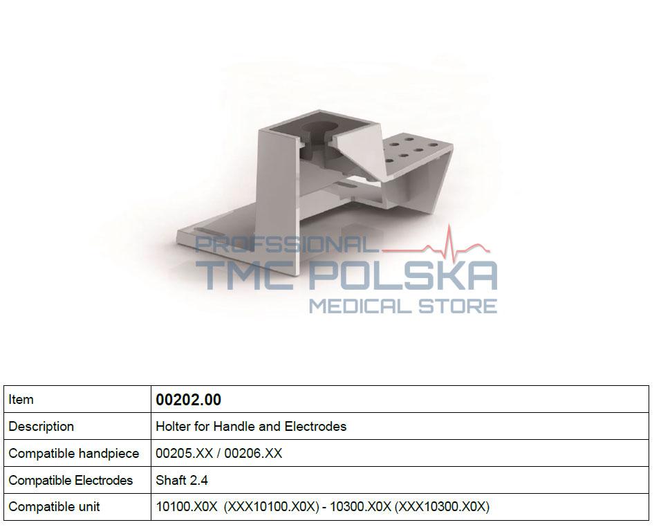 HOLTER - uchwyt do rękojeści, uchwytu z przyciskami wielofunkcyjnymi i elektrod, nr 00202.00