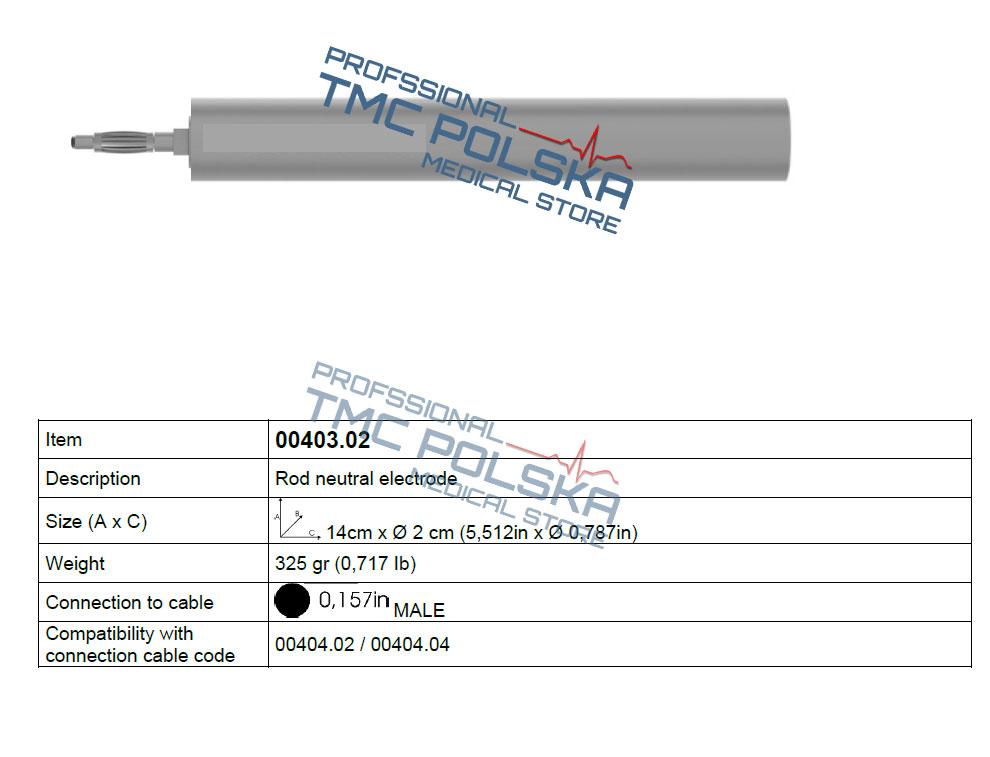 ROD elektroda neutralna - bierna Surtron 50d - 00403.02 Surtron diatermia