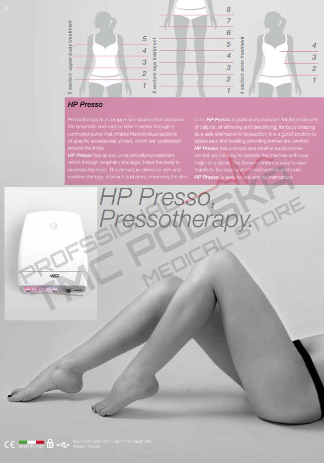 Hp Presso Presoterapa - modelowanie sylwetki urządzenia do gabinetów kosmetycznych