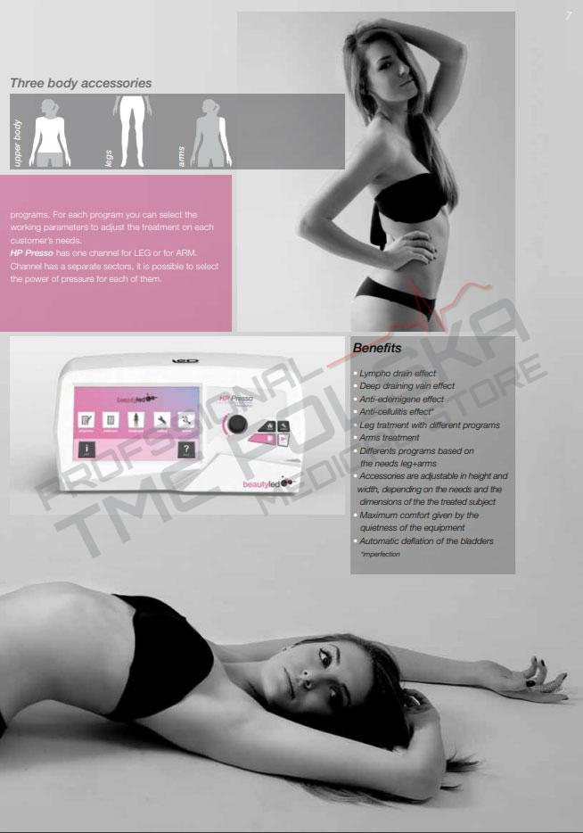 HP Presso - Urządzenie do modelowania sylwetki do gabinetów kosmetycznych