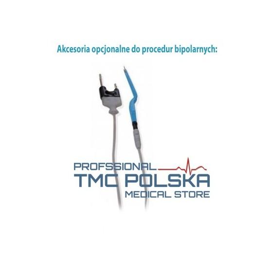 Pęseta bipolarna prosta 20cm x 2mm -nr 310-140-20 szczypce bipolarne, pinceta bipolarna prosta,  Surtron diatermia- akcesoria el