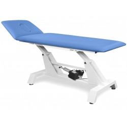 Stacjonarny stół do masażu i rehabilitacji KSR 2 E z elektryczną regulacją wysokości.