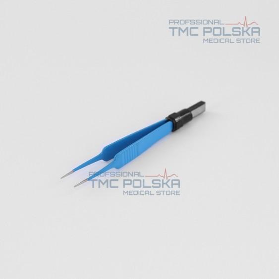 Pęseta bipolarna prosta, szczypce bipolarne proste 11,5cm x 0,5mm - nr 310-110-05  - Surtron diatermia – akcesoria. TMC POLSKA