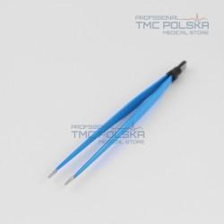 Pęseta bipolarna prosta 20cm x 2mm -nr 310-140-20 szczypce bipolarne, pinceta bipolarna prosta, Surtron diatermia akcesoria