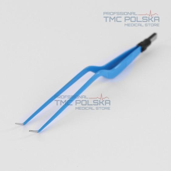 Pinceta bipolarna kątowa zakrzywiona 20 cm / 1 mm - nr 310-182-10 - Surtron