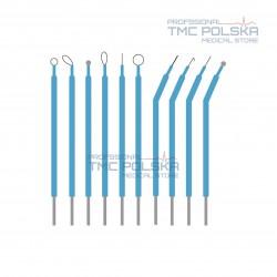 Elektrody monopolarne długie, elektroda monopolarna do diatermii chirurgicznych 10 szt 10 cm nr. 00500.00 /L diatermia SURTRON