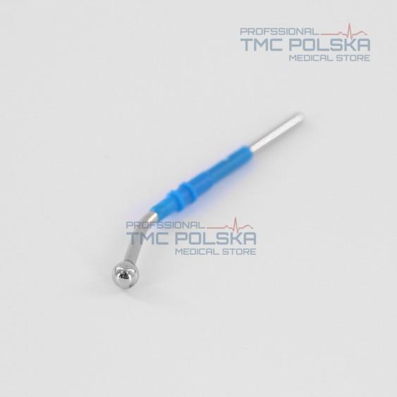 Elektroda kulkowa kątowa Ø 5mm, 6 cm, elektroda kulka zakrzywiona Ø 5mm -6 cm 152-162, 2.4mm do diatermii chirurgicznej SURTRON