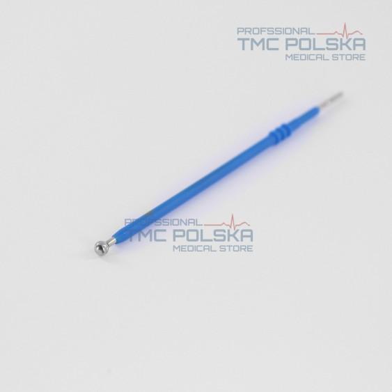 Elektroda kulkowa prosta - długa Ø 5mm 14 cm, elektroda prosta kulka, 152-165 - 14 cm, 2.4mm do diatermii chirurgicznej SURTRON