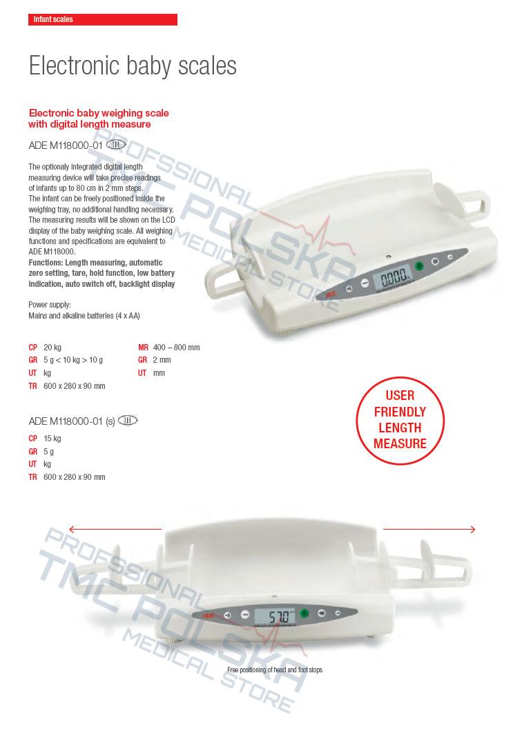 ADE M118000-01 Waga niemowlęca- waga szpitalna, waga medyczna, waga do ważenia niemowląt szpitalna