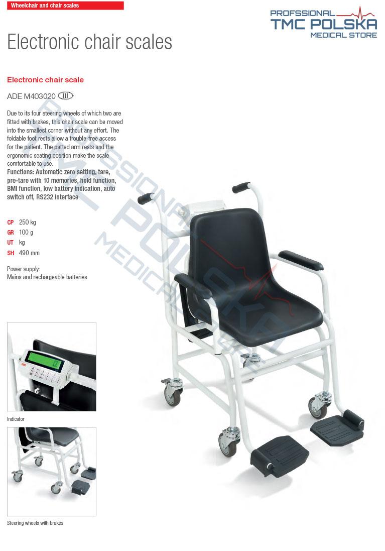 ADE - waga krzesełkowa legalizowana, wagi krzesełkowe legalizowane. TMC MEDICAL STORE