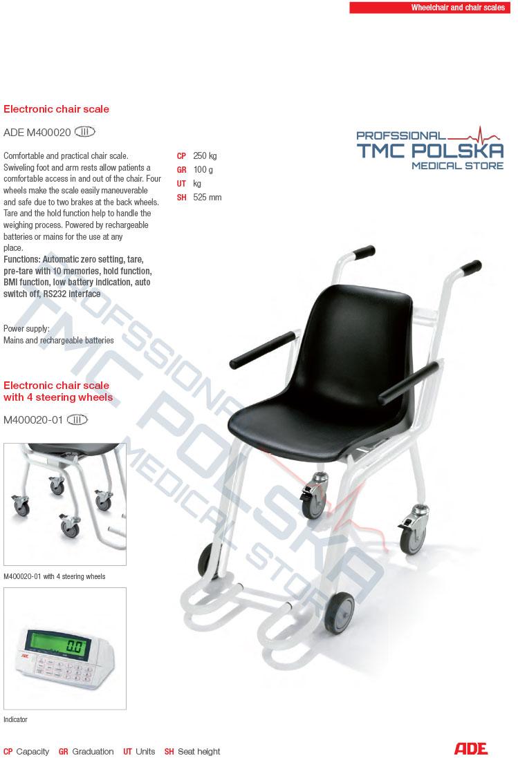 ADE waga krzesełkowa, ADE niemieckie wagi krzesełkowe. TMC MEDICAL STORE