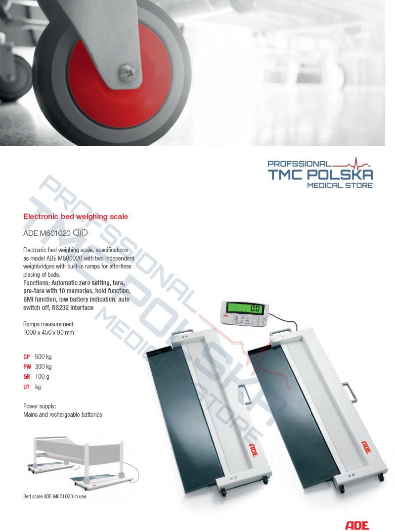ADE - waga łóżkowa z rampami- legalizowane wagi ADE. TMC MEDICAL STRORE