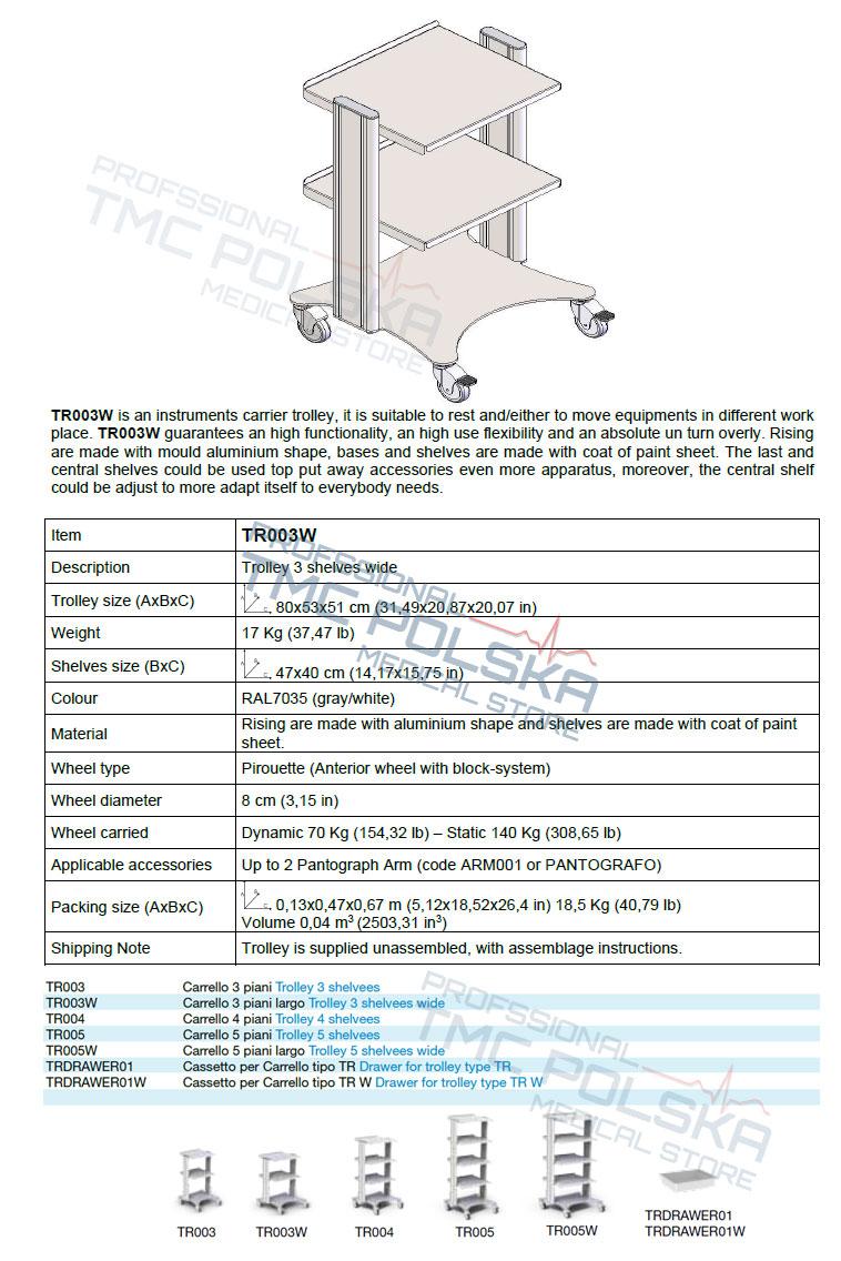 Wózek- stolik medyczny do diatermii  chirurgicznych