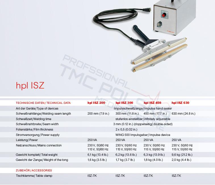 Zgrzewarka HAWO hpl ISZ 300 / hpl ISZ 450/ hpl ISZ 450 zgrzewarka szczękowa- impulsowa