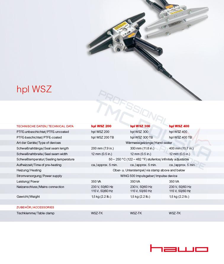 Zgrzewarka szczękowa hpl- WSZ HAWO